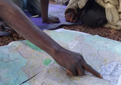 Cartography of village territories for WCF – Guinea
