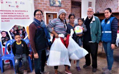 Évaluation du programme de réponse à la crise humanitaire des migrants vénézuéliens pour Caritas – Pérou