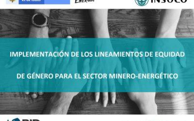 Lignes directrices sur l'égalité femmes-hommes du Ministère colombien des Mines et de l'Énergie