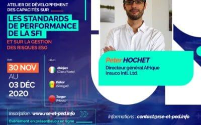 Peter Hochet participó en el taller de fortalecimiento de capacidad en materia de normas de desempeño de la CFI organizado por la red RSE y PED – ¡miren el vídeo!