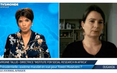 Intervención de Virginie, directora del IFSRA, en TV5 Monde