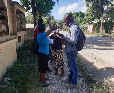 Insuco a réalisé les inventaires pour l'élaboration d'un Plan d'Action de Réinstallation (PAR) à Plaisance sur la Route Nationale 1 en Haïti